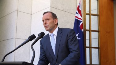 Thrust into the spotlight: Prime Minister Tony Abbott