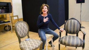 Rehearsal: Bernadette Robinson at work.