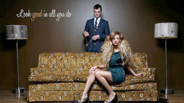 Bad look ... Fluid hair salon's controversial ad campaign.