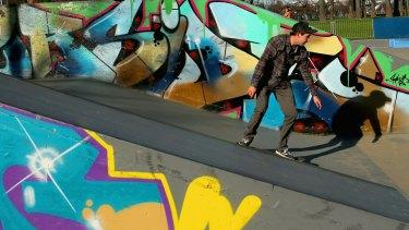 A skater at Riverslide Park.