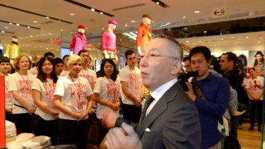 Fast Retailing founder and president Tadashi Yanai has ambitious growth plans for UNIQLO Australia.