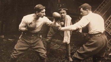 A friendly boxing match.