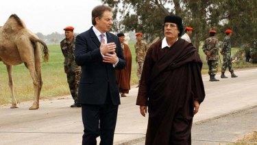 Business ... Blair and Gaddafi in Tripoli in 2004.