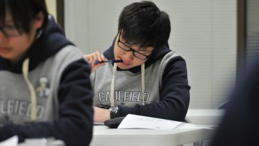 VCE maths students prepare for upcoming exams at Breakthrough Education.