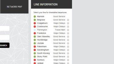 Major delays on train lines.