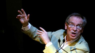 Writer Jeffrey Archer during his address at the Age/Dymocks literary lunch.