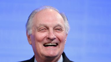 Actor and science advocate Alan Alda addresses the National Press Club of Australia.