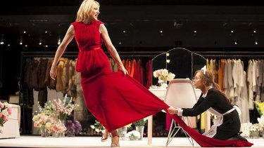 Missed out: Cate Blanchett and Isabelle Huppert on stage in Sydney Theatre Company's <em>The Maids</em>.