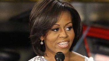 Michelle Obama ... was aboard the Boeing 737.