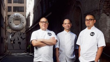 Poached ... Dan Hong, Eric Koh and Jowett Yu are banding together in a new venture, Mr Wong.