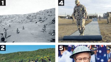 Five images of sport and Anzac Day.