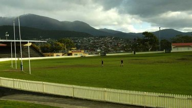 The Hobart football ground.