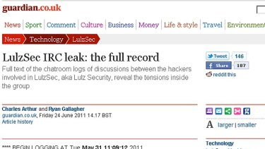 A screen grab of the leak which the Guardian has revealed.