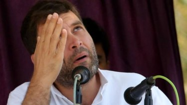 Rahul Gandhi, prime ministerial candidate for the Indian National Congress.
