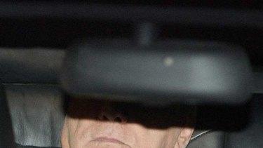 On his way out ... Silvio Berlusconi.
