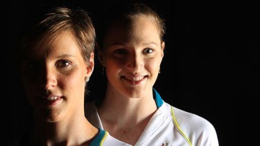 Gene pool … sisters Bronte and Cate Campbell are both competing at the Olympics.