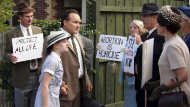 A confrontation with protesters in ABC drama <i>Dangerous Remedy</i>.