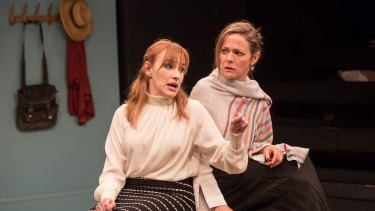 Kate Mulvany (left) and Caroline Brazier are part of a flawless cast in <i>The Literati</I>.