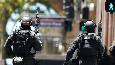 SYDNEY, AUSTRALIA - DECEMBER 15: Pictures from the siege at Lindt Cafe in Martin Place on December 15, 2014 in Sydney, Australia. (Photo by Daniel Munoz/Fairfax Media)