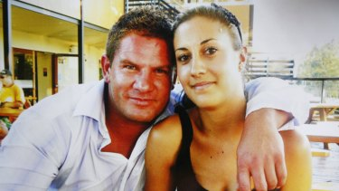 Happier days ... Nathan Gordon, who died from injuries suffered riding a bicycle, and his partner Tanaya Frew.
