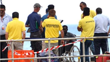 Approximately 60 women, men and children have been picked up by Custom officers at Christmas Island.