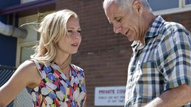 Shane Bourne and Gigi Edgley in <i>Tricky Business</i>. Can understated charm survive the pressure of the ratings game?