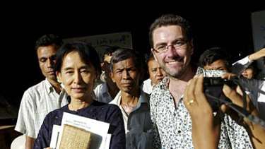 """Meeting her was a surreal experience"" ... Ronan Lee with Aung San Suu Kyi"