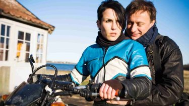 Noomi Rapace as Lisbeth Salander and Michael Nyqvist as Mikael Blomkvist in the original film.
