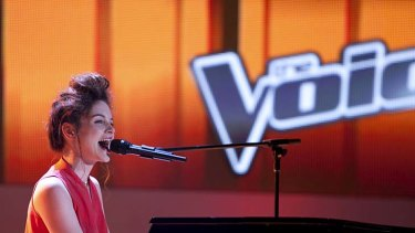 Going for a song ... <em>The Voice</em> hopeful Laura Bunting.