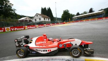Jann Mardenborough competes in the formula one-supporting GP3 series.