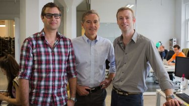 Niki Scevak, Bill Bartee and Rick Baker of Blackbird Ventures, a new $30 million VC fund for tech start-ups.