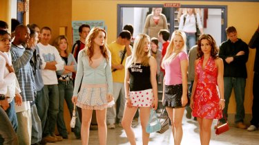 Scene from the hit flick <i>Mean Girls</i> written by Tina Fey and starring Lindsay Lohan, Amanda Seyfried, Rachel McAdams, and Lacey Chabert.