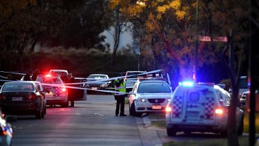 Two men were shot in the legs and another man bashed in Roxburgh Park.