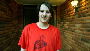 Ryan Lambourn in 2007, when he created an online game based on the Virginia Tech murders.