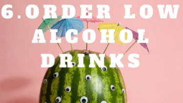 Order low alcohol drinks