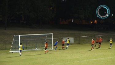 Andrew Pengelly dominated in the Brisbane Strikers v Sunshine Coast FC NPL match on the weekend with a stunning nine goals.
