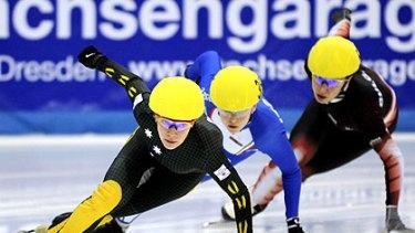 Tatiana Borodulina winning a World Cup race in Dresden as an Australian.