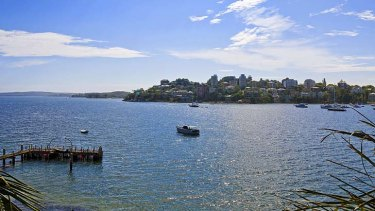 Wealthy suburb: the harbour views from Darling Point.