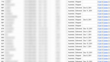 Some of the Australian accounts that were exposed by the merchant.