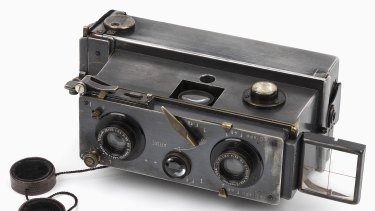 3D technology is not as recent as many people might think. This Verascope stereo camera is similar to one used to take three-dimensional images at Gallipoli in 1915.