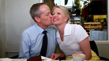 Opposition Leader Bill Shorten wants to feel voter love, not just that of his wife, Chloe.