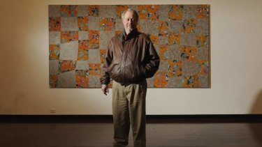 Bringing out the background: John Peart with his work Tiru Squares in 2011.