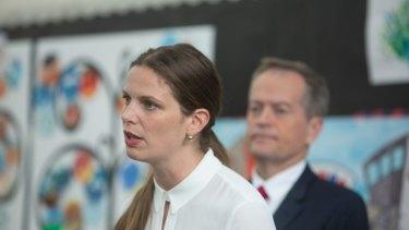 Shadow education minister, Kate Ellis with Labor leader Bill Shorten