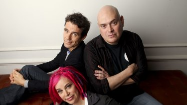 Andy Wachowski, right, Tom Tykwer and Lana Wachowski, the directors of the film Cloud Atlas.