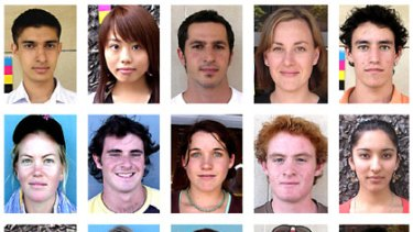 Some of the Sydney faces that made up the final composite image.