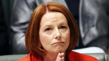 Little has changed ... Julia Gillard's ratings are identical to those of Rudd a year ago.