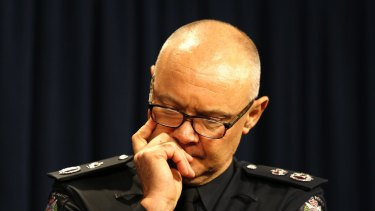 Victoria Police Chief Commissioner Ken Lay steps down.