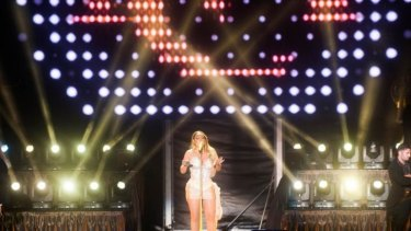 Glorious performance: Mariah Carey in concert.