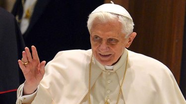 To resign ... Pope Benedict XVI.