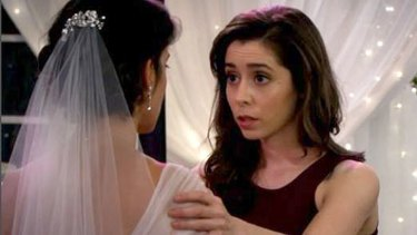 The big reveal when Ted gets to meet his dream woman at Robin and Barney's wedding.